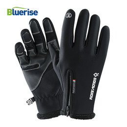 Windproof Touch Screen Gloves Australia - Heated Zipper Ski Gloves Waterproof Windproof Touch Screen Snowboard Gloves Skiing Snowmobile Anti-slip Winter For Mens