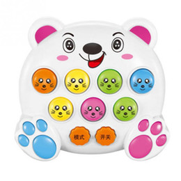 Wholesale 1PCS Hamster Game Mini Handheld Whack-A-Mole Game Machine With Key Buckle The Boring Irritability Decompression Toy