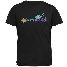 8bae3b864c01 capitalKeyWord NZ - Sparkle Mermaid Mens T Shirt denim clothes camiseta t  shirt