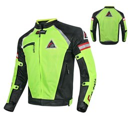 $enCountryForm.capitalKeyWord Australia - New summer mesh breathable racing clothing riding jackets outdoor travel motorcycle jackets cycling clothing have protection 2 colors