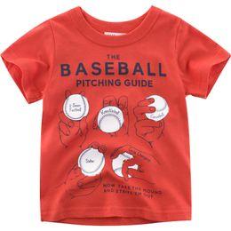 $enCountryForm.capitalKeyWord Australia - Baby Kids Casual Red T-shirt Summer Short Sleeve Tee Shirt Boys Girls Cotton Tops Comfortable Round Neck Clothing Shirts Tops