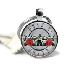 $enCountryForm.capitalKeyWord UK - Rose Art Image Photo Glass Cabochon Charm Silver Metal Key Ring Quote Jewelry Pendant Glass Dome Key Chain