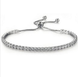 Key Tungsten Australia - Europe and the United States foreign trade new fashion low-key luxury exquisite diamond crystal push-pull bracelet AliExpress hot