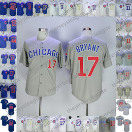 cebb053186e Custom Cubs Stitched White Blue Gray Jersey 2019 Chicago  9 Javier Baez 11 Yu  Darvish 12 Kyle Schwarber 17 Kris Bryant 44 Rizzo