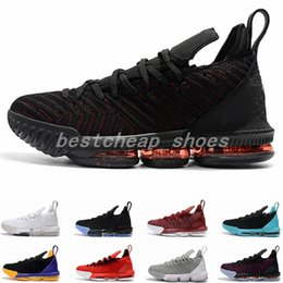 Discount sample shoes men - 2018 New LeBrons 16 Sample I Promise White 1 Thru 5 Bred Mens Basketball Shoes for Men Athletic 16s Sports Sneakers Size