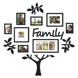 Cartoon Designs Wall Photos Australia - Removable Photo Frame 3D DIY Acrylic Wall Stickers Tree Wall Decals Posters Wall Stickers Flower Mural Art Picture Home Decor
