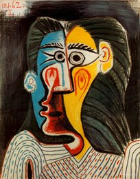 Painting Faces Australia - Pablo Picasso Abstract Two Faces Of Woman,Oil Painting Reproduction High Quality Giclee Print on Canvas Modern Home Art Decor 273