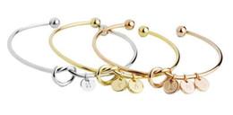 $enCountryForm.capitalKeyWord Australia - A-Z 26 Letters Knot Initial Bracelets Bangles Initial Charm Bracelet Girls Love Personalized Bangles for Women Jewelry