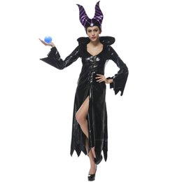 Wholesale adult halloween witch costumes for sale – halloween Halloween Witches Queen Cosplay Costume Sorcerer Wizards Carnival Easter Zombie Vampire Ghost Fancy Dress Sexy Adult Woman Game