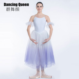 $enCountryForm.capitalKeyWord Australia - 19335Shading Purple ballet tutu for girls women Spandex Bodice Long Romantic ballet dress for ballerina Soft Tulle dress