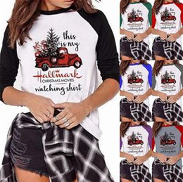 Short long women blouSe online shopping - Christmas Shirt This is my Hallmark Christmas Movies Watching Letter Print Long Sleeve O neck T shirts Women Blouse Top Tee Pullover A112001