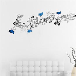 $enCountryForm.capitalKeyWord Australia - Large Flower Vine Wall Decals DIY Flower and Butterfly Wall Art for Living Room Bedroom Decoration Elegant Decor