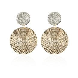 big hop earrings 2019 - 2018 Pattern Earrings for Women Vintage round Big Earrings Punk Hip Hop geometric Statement ear Jewelry wholesale cheap