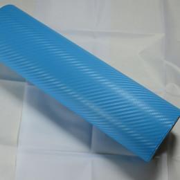 $enCountryForm.capitalKeyWord Australia - sky blue 3D carbon fiber car wrap Car Wrapping Film Sheets With Air Drain Top quality 1.52x30m Roll 4.98x98ft