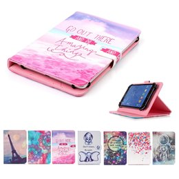 $enCountryForm.capitalKeyWord Australia - Cartoon Printed Universal 7 inch Tablet Case for Samsung Galaxy Tab 2 7.0 I705 P3110 P3100 Cases kickstand PU Flip Cover Cases