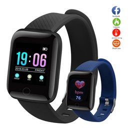 smart watch android ios NZ - 116plus Smart Watch Color Touch Screen Waterproof Smart Bracelet Heart Rate Blood Pressure Sleep Wristband For Android IOS D13