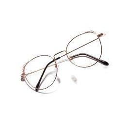 f573a4e9ce4f Women Round Flat Mirror Retro Cat Eye Eyeglasses Frames For Women Hollow Metal  Glasses Frame Men Metal Outdoor Eyewear LJJR333