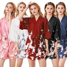 Wholesale womens sexy robes for sale – plus size Mini Dress Sexy Silk Dresses Womens Pajamas Robe Bathrobe HomeWear New Fashioin Plus Size Dresses M L XL XXL
