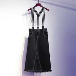 834675b827b Plus Size Women Clothing Denim Suspender Skirt Long 2019 Hot Sale Korean  Style Casual Pencil Spli Sjirt Women Jean Skirts 5XL