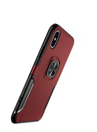 magnet notes UK - 360 Rotating Finger Bracket Phone Case Magnet Ring Holder ultra thin soft phone case Card Holder For iphone XR XS MAX X 8 7P 8 6 7 Note 9