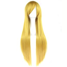 $enCountryForm.capitalKeyWord UK - 24 Colors 80cm Long Women Synthetic Hair Cosplay Wig Heat Resistant Yellow Gray Straight Party Hair Wigs