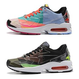 x art black men Australia - 2020 Designer 87 Atmos x Max2 Light QS Men Running Shoes Black Red Colorful Pink Mens Trainers Sports Sneakers des Chaussures Size 36-45