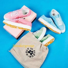 Spring Fall Canvas Shoes Australia - 2019 Canvas Mens Woemn Designer Shoes One Star Ox Tyler the Creator Golf Le Fleur Jade Lime Green Skater Sneakers Casual shoes 3A A12