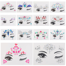 gems stickers Australia - 1pc Temporary Adhesive 3d Face Jewelry Festival Party Body Gems Rhinestone Flash Tattoos Body Stickers Makeup Beauty Tools
