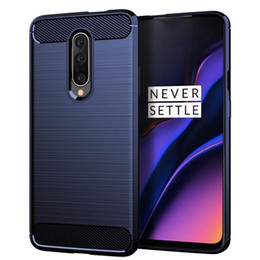 Free Cellphone Cases Australia - For Oneplus 7 Pro Carbon Fiber brushed TPU Slim Soft Anti-slip Cellphone Case with retail package and free shipping