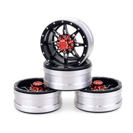 Ingrosso 4 pezzi Rc Rock Crawler Wheel Rim 1.9 pollici Beadlock Per 1/10 Axial SCX10 90046 Tamiya CC01 D90 D110 Tf2 Traxxas Trx-4 (Red)