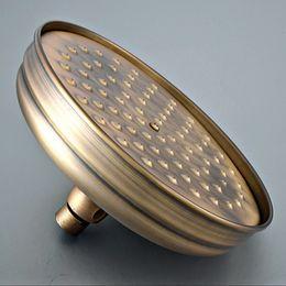 Round Rainfall Australia - Antique Brass 8 inch Round Showerhead Bathroom Rainfall Shower Head Rotatable Top Sprayer Ksd242
