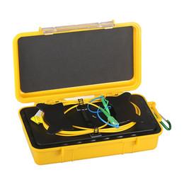 Caixa da fibra do cabo do lançamento da fibra óptica OTDR 500m eliminador da zona inoperante de 1KM 2KM OTDR Singlemode 9 / 125um G652D SC / APC-LC / APC em Promoção