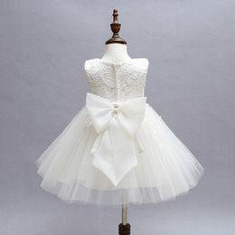 White Clothes For Baptism Australia - Baby Girl Baptism Dress Tutu Puffy White Wedding Dress Toddler Girl Clothes Newborn Baby Birthday Ceremony Dresses For Girl Y19061001