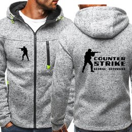 Wholesale Counter Strike hoodie Men Sports Wear Men s Hooded hoodie Streetwear Tide Jacquard Hoodies Zipper Sweatshirt Male Hoody Spring Hoodies