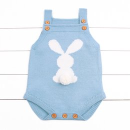 $enCountryForm.capitalKeyWord Australia - Baby Girl Bodysuits Adorable Rabbit Pattern Newborn Boys Knit Jumpsuits Toddler Infant Funny Onsie Fall Spring Outerwear Clothes Y19061201