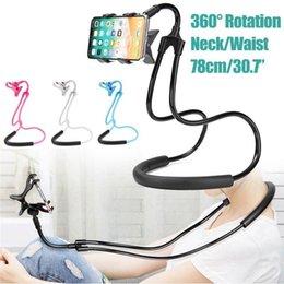 Универсальный подвесной шейный кронштейн Творческий прикроватный ленивый подвесной шейный кронштейн для мобильного телефона Подвесной шейный держатель для мобильного телефона Клип мобильный телефон