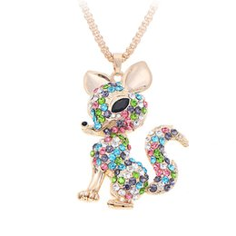 Cute fox jewelry online shopping - cute Fox Necklaces Pendant Rhinestone Sweater Animal Necklace For Women Fashion Jewelry Crystal Pendant Necklace