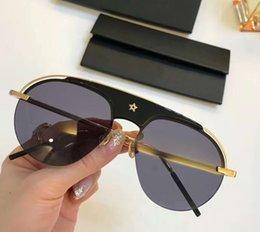 Lunettes Soleil Orange Australia - Pilot Sunglasses Black Gold Frame Gray Lenses 58mm des lunettes de soleil luxury Designer glasses sun glasses new with box