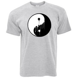 China Art T Shirt Painted Dripping Ying Yang Balance Symbol Chinese Peace Energy suppliers