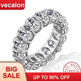 $enCountryForm.capitalKeyWord Australia - Vecalon 2018 Promise Wedding Bands Ring 925 Sterling Silver Oval Cut 5a Zircon Cz Engagement Rings For Women Men Finger Jewelry J190704