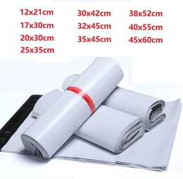 Wholesale 10 Size New Plastic Poly Self-seal Self Adhesive Express Shipping Bag White Courier Mailing Envelope Courier Post Postal Mailer Bags