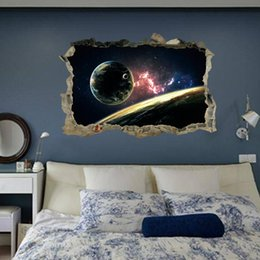 $enCountryForm.capitalKeyWord Australia - Planets 3D Wall Sticker PVC Kids Room Decor Space Sticker Murals for Boys Room Bedroom Galaxy Poster Wallpaper