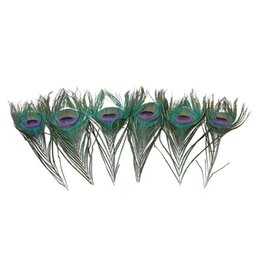 $enCountryForm.capitalKeyWord UK - Natural Peacock Feathers DIY Makeup Tool Home Party Decoration Headmade Gift Colorful Headmade Decor 10-12 Inch 100pcs