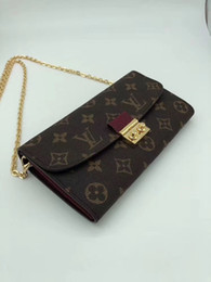 Vintage trunk purse online shopping - Croisette Wallet Luxury A Plaid Wallet For Women Designer Fashion Shows Exotic Leather Bags Clutches Evening Chain Wallets Purse