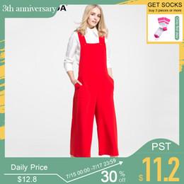 $enCountryForm.capitalKeyWord Australia - Vero Moda Brand 2019 New Regular Ol-style American Style Elegant Suspender Jumpsuits Ol-style Women Wide Leg Jumpsuit  316144027 MX190716