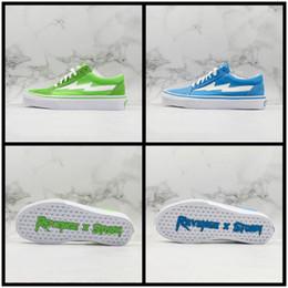 $enCountryForm.capitalKeyWord Australia - Newest Revenge X Storm Old Skool Casual Shoe Blue Green Canvas Street Fashion Mens Classic Leisure Designer Shoes