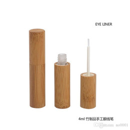 empty eyeliner Australia - 500pcs lot 4ml high quality Handmade bamboo eyeliner tube cosmetics DIY Natural bamboo packaging empty bottle Refillable Bottles