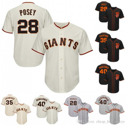 crawford jerseys UK - 28 Posey San Francisco 150th Anniversary Baseball Jerseys Giants 35 Brandon Crawford 40 Madison Bumgarner 22 Will Clark In Stock