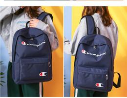 $enCountryForm.capitalKeyWord Canada - 4 Colors Champions Letter Backpack Printed Shoulders Bags Fashion Boy Girls Schoolbags Unisex High Capacity Sport Travel Beach Bag DHL FJ247