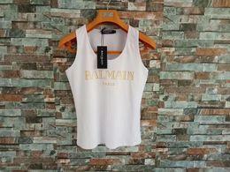 2019 Balmain Tanks Mujer Tops Camisetas Moto Ropa Motorista Rock Short Tanks Skinny Slim Shorts Balmain Designer en venta